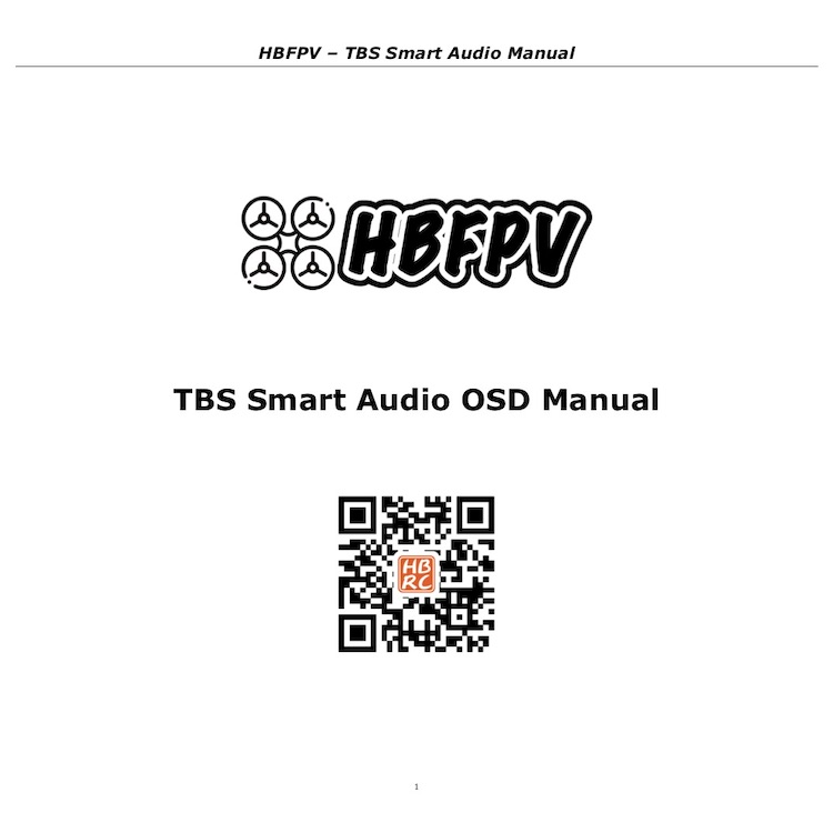 BetaFlight OSD Setting for VTX with TBS Smart Audio Protocol
