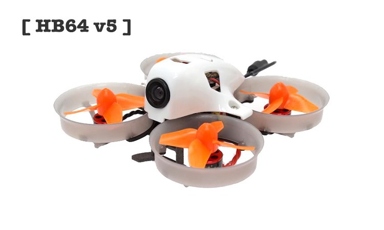 [ HB64 v5 ] 64mm 1S Brushless Micro Indoor FPV Racing Drone