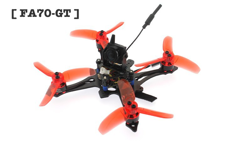 [ FA70 GT ] 3S Brushless 2.8inch 70mm Prop F4 12A FPV Racing Drone EOS2 200mW OSD VTX