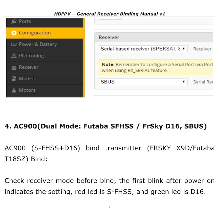 General Receiver Binding Manual-HBFPV Official Site