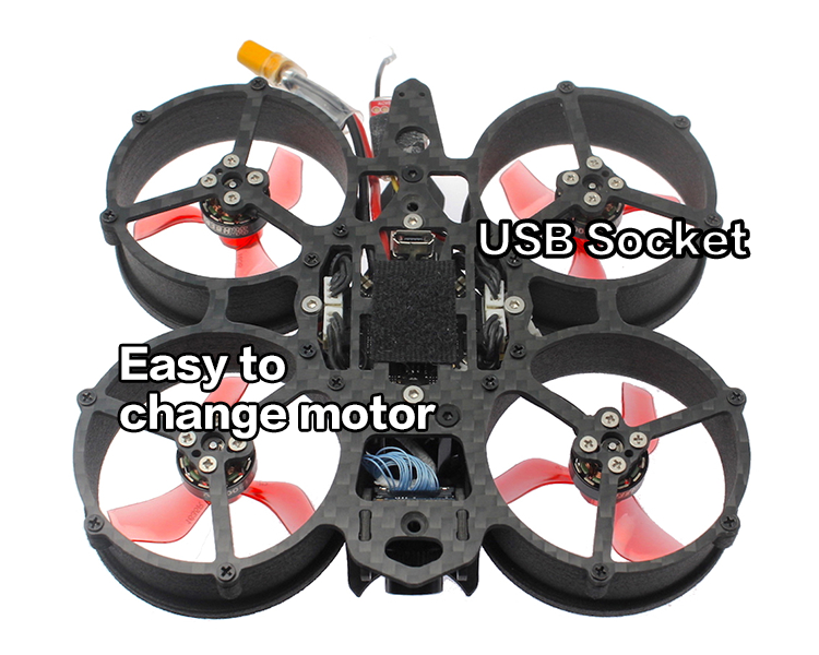[ DC40 v1 ] 40mm Ducted 3-4S HD DVR Camera FPV Racing Drone with F4 OSD 12A 1103 Motor Caddx Baby Turtle-HBFPV Official Site